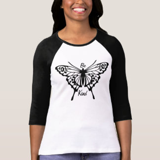BUTTERFLY MESSAGE BE KIND TEE SHIRT