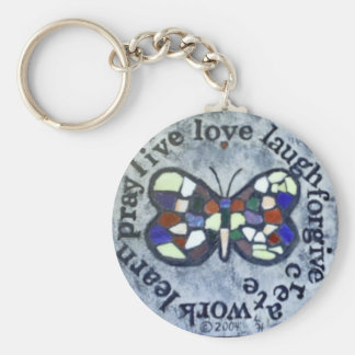 Butterfly Message Keychain