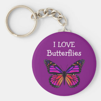 Butterfly Message Keychains