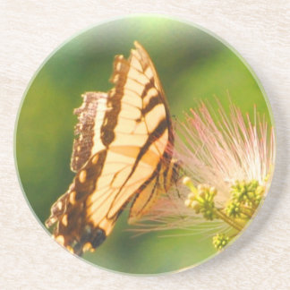 butterfly mimosa tree drink coasters
