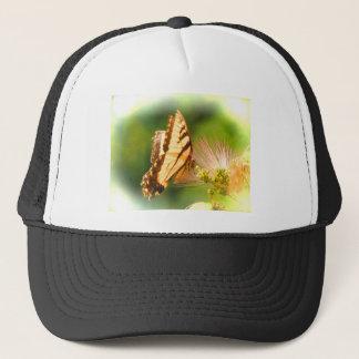 butterfly mimosa tree trucker hat