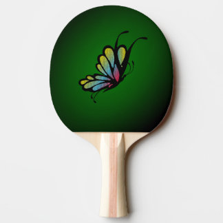 Butterfly Mosaic Green Ping-Pong Paddle