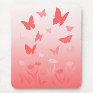 Butterfly Mousepad Keepsake Pink Butterfly Gift