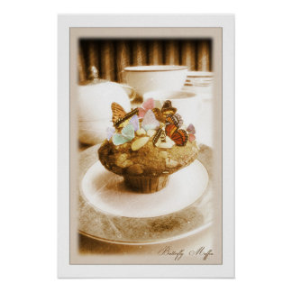 Butterfly Muffin Poster