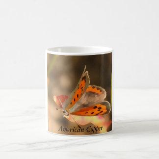 Butterfly Mug- American Copper Classic White Coffee Mug