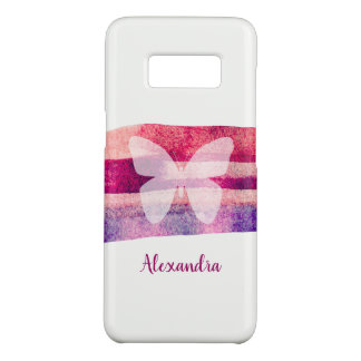 Butterfly Mulberry Watercolor Personalized Case-Mate Samsung Galaxy S8 Case