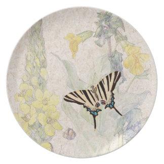 Butterfly Mullein Wildflower Flowers Plate