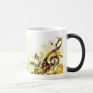 Butterfly Music Notes Morph Mug