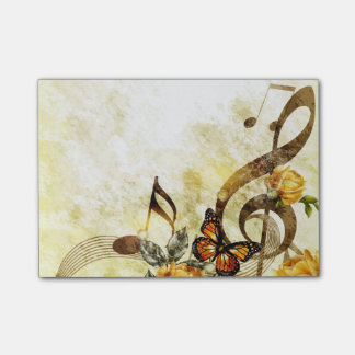 Butterfly Music Notes Post-it® Notes