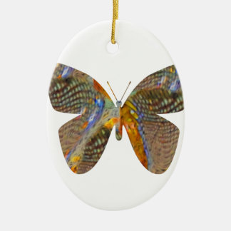 Butterfly My Way Ceramic Oval Ornament