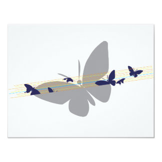 """butterfly name shirt 4.25"""" x 5.5"""" invitation card"""