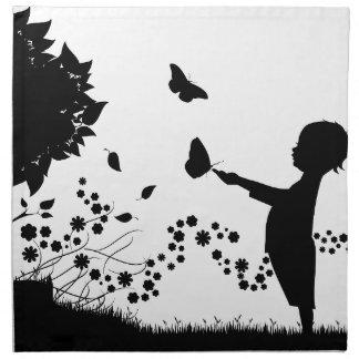 butterfly napkin