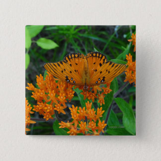 Butterfly of change, encouragement and beauty 2 inch square button