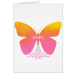 Butterfly of Hope with Jeremiah 29:11 Card