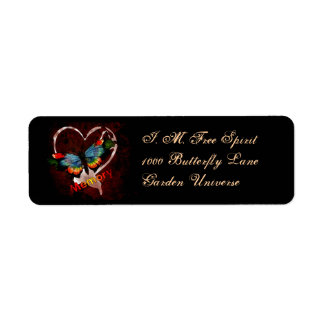 Butterfly Of Memory Custom Return Address Labels