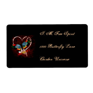 Butterfly Of Memory Shipping Label
