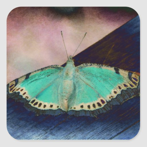Butterfly of the night square sticker