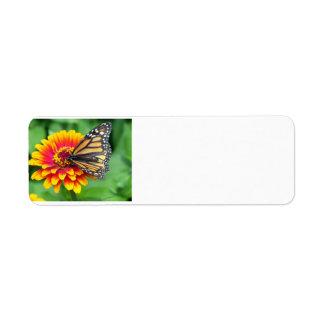 Butterfly on a Flower Return Address Label