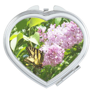 Butterfly on a Lilac Bush Mirrors For Makeup