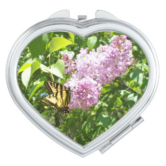 Butterfly on a Lilac Bush Travel Mirrors