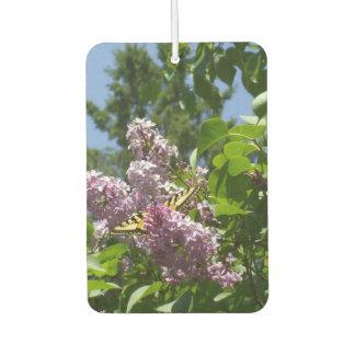 Butterfly on a Lilc Bush. Car Air Freshener