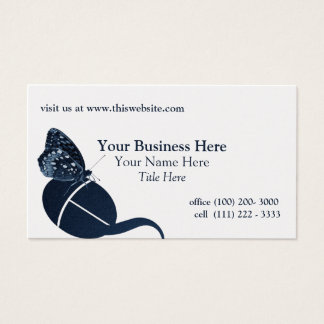 Butterfly on a Mouse Blue Business Card