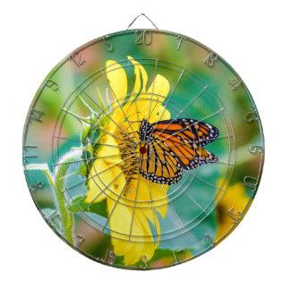 Butterfly on a Sunflower Dartboard