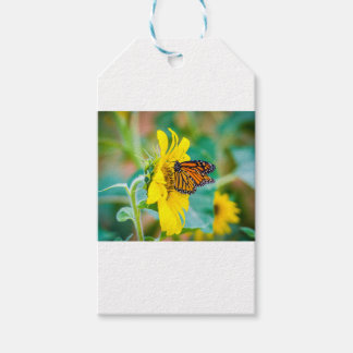 Butterfly on a Sunflower Gift Tags