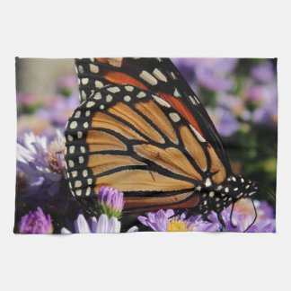 Butterfly on Asters Hand Towel