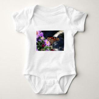 Butterfly on Asters II Baby Bodysuit