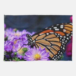 Butterfly on Asters III Hand Towels