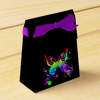 Butterfly on Black Girls Birthday Tent favor Boxes