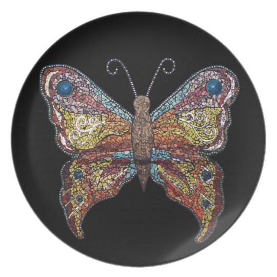 Butterfly on black - Mission Kids Plate