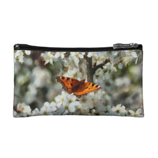 Butterfly on Blossom Makeup Bag