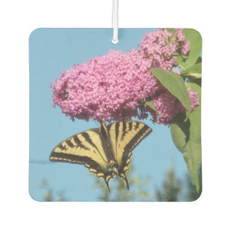 Butterfly on Butterfly Bush Car Air Freshener