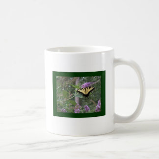 Butterfly on Butterfly Bush Classic White Coffee Mug