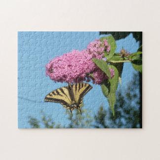Butterfly on Butterfly Bush Jigsaw Puzzle