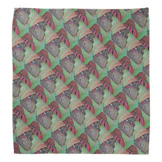 Butterfly on Coneflower Patterned Bandana