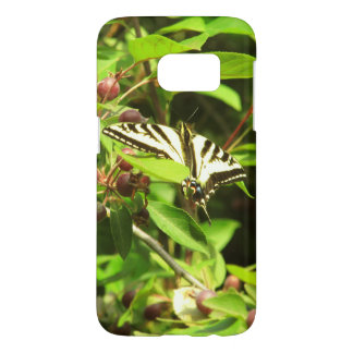 Butterfly on Crabapple Samsung Galaxy S7 Case