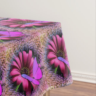 Butterfly on Daisy Tablecloth