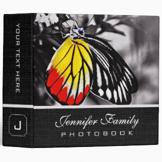 Butterfly on Flower Family Photo Books 3 Ring Binder