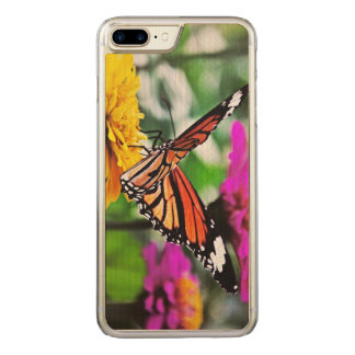 Butterfly on Flowers #2 Carved iPhone 7 Plus Case