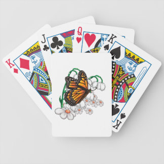 Butterfly on flowers bicycle playing cards