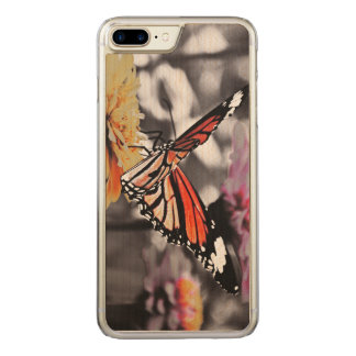Butterfly on Flowers Carved iPhone 7 Plus Case
