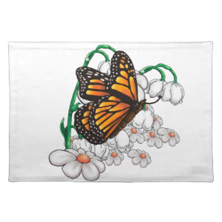 Butterfly on flowers placemat