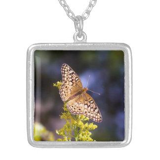 Butterfly on Goldenrod Necklace