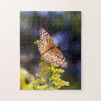 Butterfly on Goldenrod Puzzle