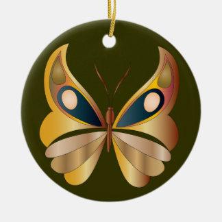 Butterfly on Green - Yule Ornament