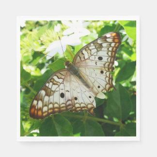 Butterfly on Jasmine Tropical Nature Photography Napkin
