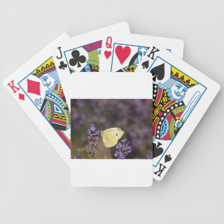 Butterfly on lavender bicycle playing cards